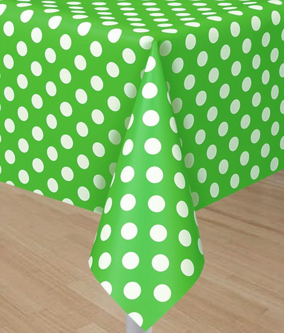 lime-green-tablecover-with-white-polka-dots-6