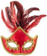 f-godanmaska-indyjska-z-piorami-czerwona-z-kamieniem